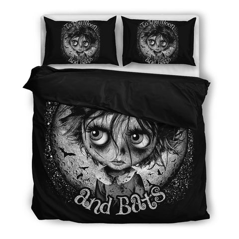 Moon and Bats Bedding Set