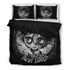 View Image of Moon and Bats Bedding Set