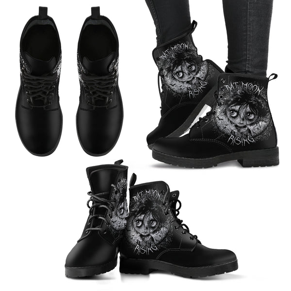 Bat Moon Rising Women's Leather Boots