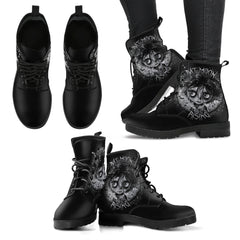 Another view of Bat Moon Rising Women's Leather Boots