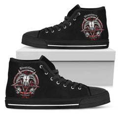 Another view of Brutal Baphomet Men's High Top Canvas Shoe