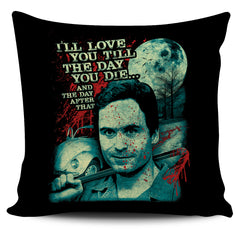 Another view of Ted Bundy Pillow Cover