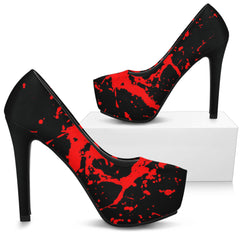 Another view of Black Bloody Heels