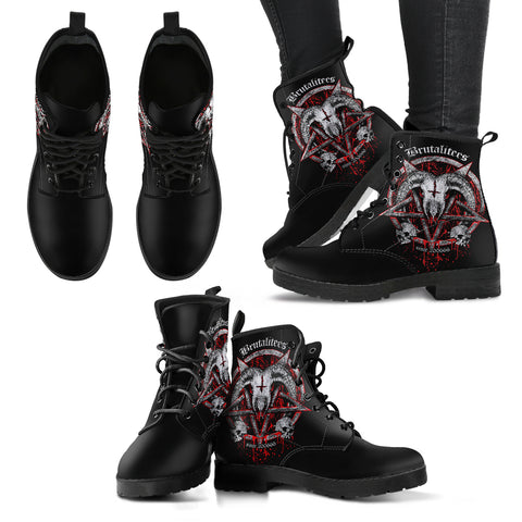 Brutal Baphomet Women's Leather Boots