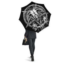 View Image of Brutal Baphomet Umbrella - White