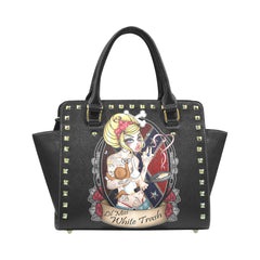 View Image of Lil Miss White Trash Rivet Shoulder Handbag