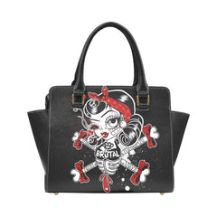 Another view of Brutal Betty Bones Rivet Shoulder Handbag