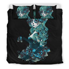 View Image of Day of the Dead Bedding Set