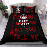 Keep Calm and Fuck You Bedding Set
