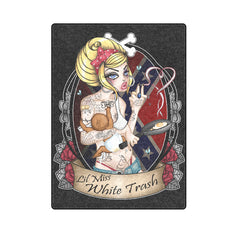 View Image of Lil Miss White Trash Blanket