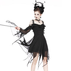 View Image of Flounce-chiffon-dress-1_S4RGB4FKYVUZ.jpg