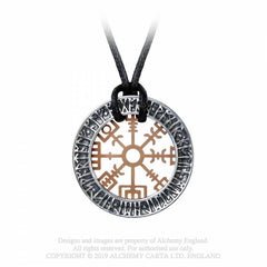 View Image of Niu-heimar-vegvisir-necklace-1_S686067F2LCU.jpg