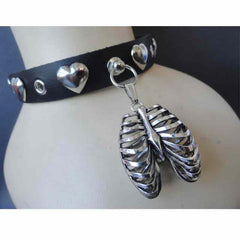 View Image of Rib-cage-leather-choker_RYEL67A5OD7S.JPG