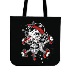 Another view of Brutal Betty Bones Tote Bag