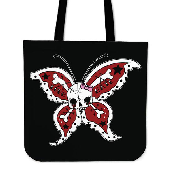 Brutal Butterfly Tote Bag