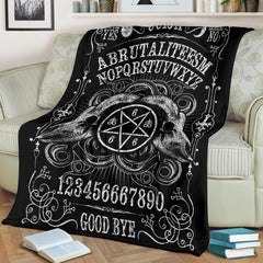 Another view of Brutal Ouija Premium Blanket