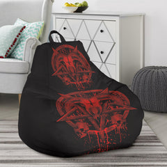 Another view of Red Brutal Baphomet Bean Bag Chair