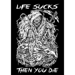 Another view of Life Sucks Then You Die Bedding Set