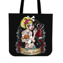 View Image of Lil Miss White Trash Tote Bag