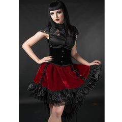 View Image of red-velvet-skirt-model-2_RNTEL94NMCIS.jpg