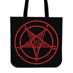Another view of Sigil of Baphomet Tote Bag