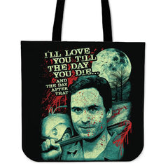 Another view of Ted Bundy Tote Bag