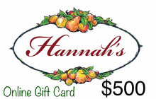 Load image into Gallery viewer, Hannah's of Erin Gift Card