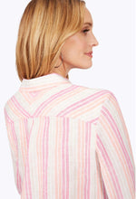 Load image into Gallery viewer, [190188FOXCROFT]  STRIPE LINEN SHIRT