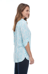 1439397 French Dressing HAZY STRIPE BLOUSE