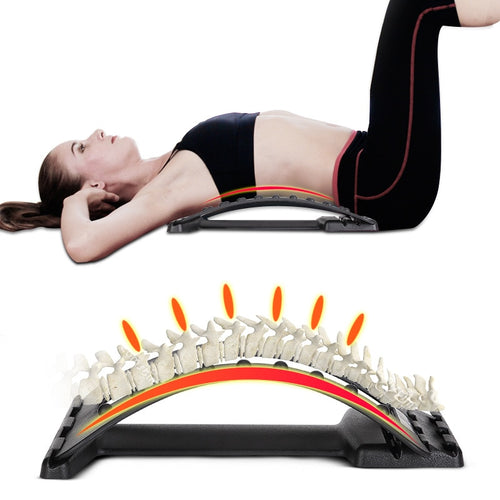 Back Massager Stretcher Fitness Massage Equipment Stretch Relax Stretcher Lumbar Support Spine Pain Relief Chiropractic