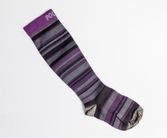 Purple/Gray Striped