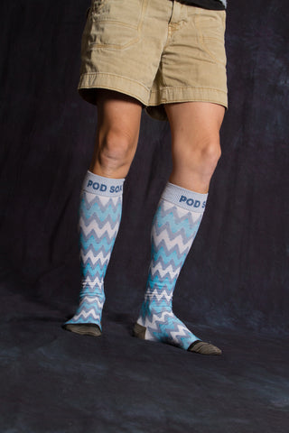 Blue Chevron Athletic PODsox