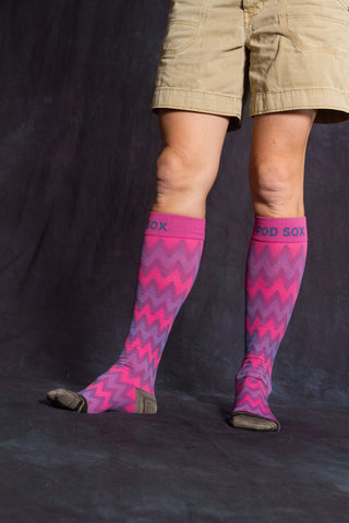 Pink Chevron Athletic