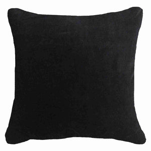 Velvet Lounge Cushion - 55cm - Black