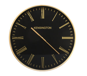 Kensington Black Wall Clock - 60cm