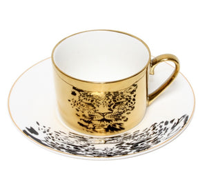 Teacup - Leopard - Gold