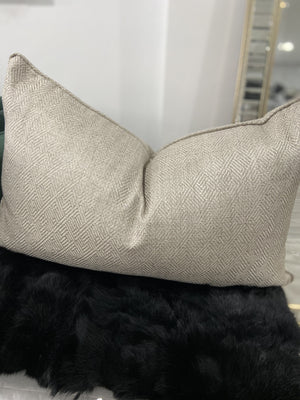 Oran Textured Linen Cushion - Grey - 40cm x 60cm