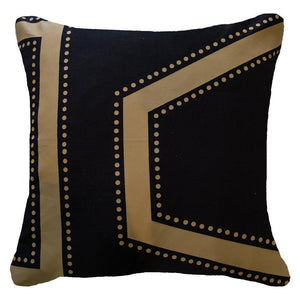 Dot Edge Lounge Cushion - Black - 55cm