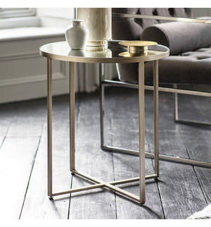 Toby Side Tables - Champagne & Mirror - Set/2