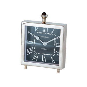Tower Square Clock - Nickel