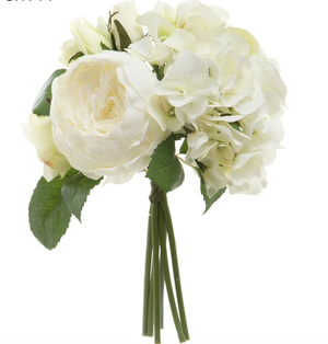 Rose Hydrangea Bouquet - White
