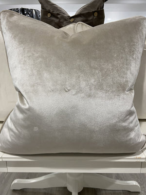Mariah Velvet Cushion - Crystal - 55cm