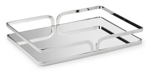 Cherie Silver Mirror Tray - Rectangle - Large