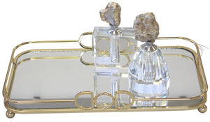 Equip Rectangle Mirror Tray - Gold - Large