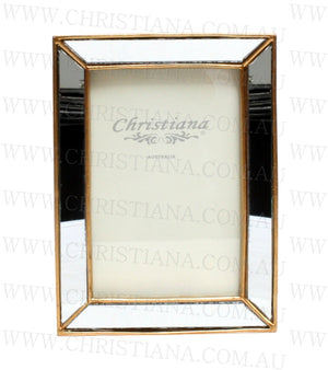 Mirror Photo Frame - Gold Rustic - 13cm x 18cm