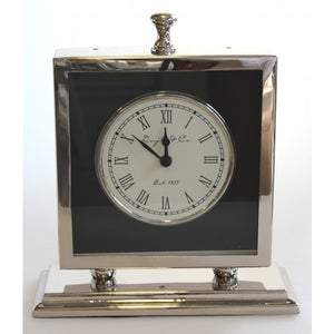 Blackhill Clock Silver with Black Face