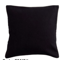 Basic Black Cushion Set/2 - Square