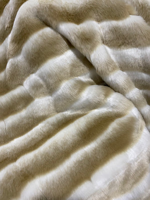 Chinchilla Faux Fur Latte Throw - 150cm x 180cm