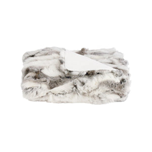 Rabbit Fur Throw - 130cm x 160cm - Siberian Ash