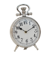 Grimes Silver Round Clock